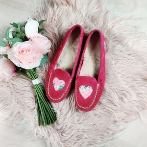 UGG I ❤️UGGs pink heart moccasin flats